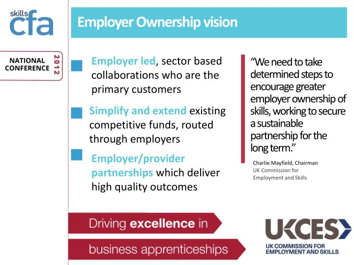 Employer Ownership vision