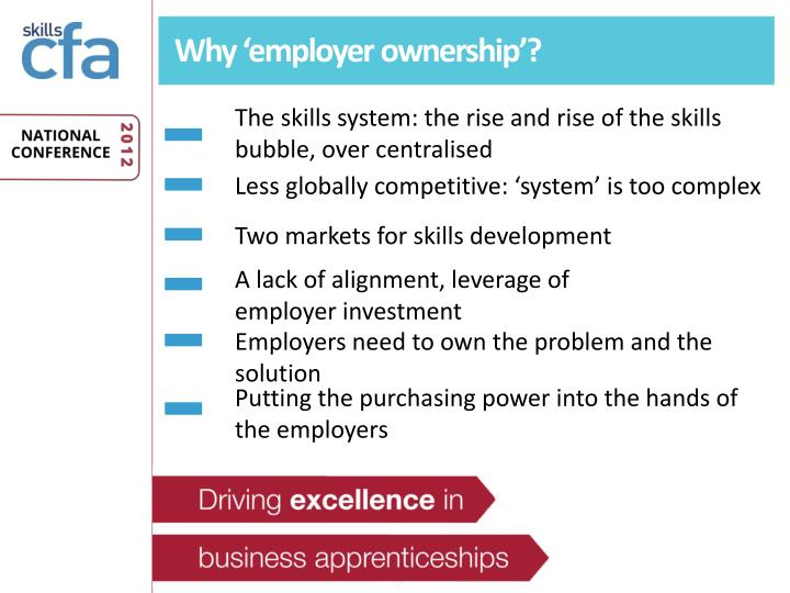 Why 'employer ownership'?