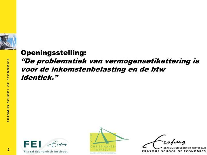 Openingsstelling: