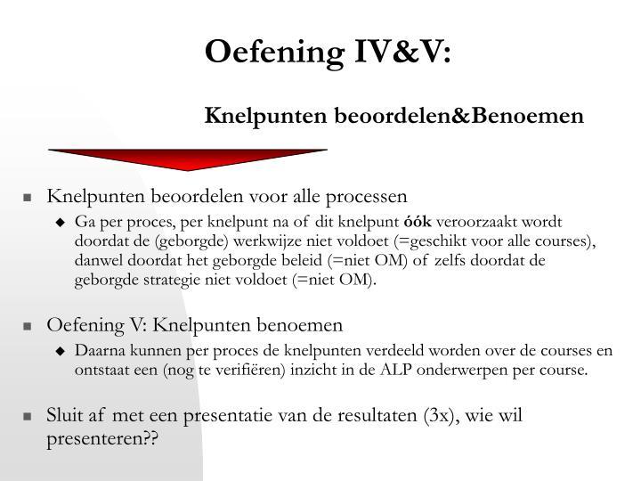 Oefening IV&V
