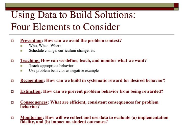 Using Data to Build Solutions: