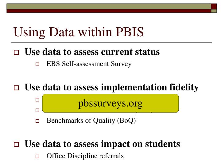 Using Data within PBIS
