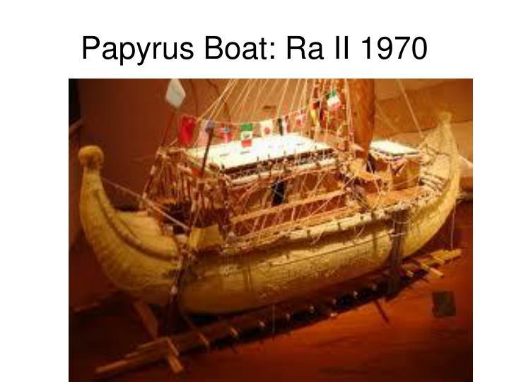 Papyrus Boat: Ra II 1970