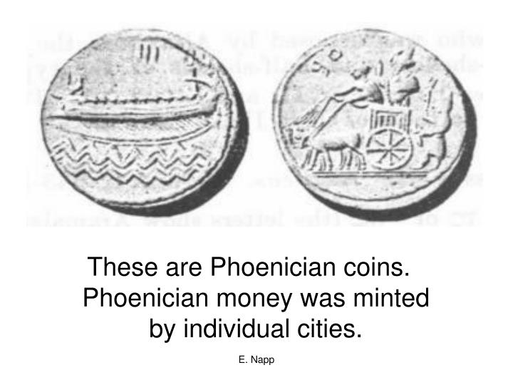These are Phoenician coins.