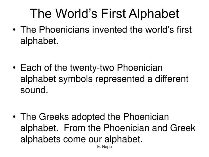The World's First Alphabet