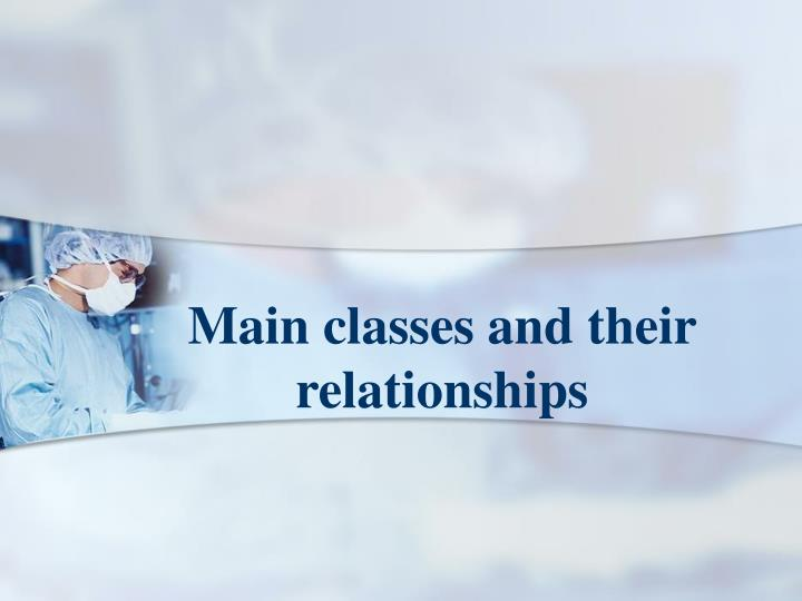 Main classes and their relationships