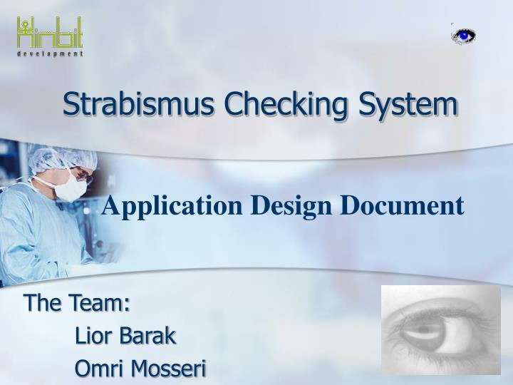 Strabismus checking system