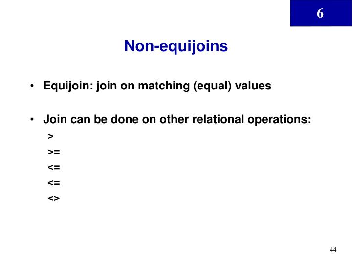 Non-equijoins