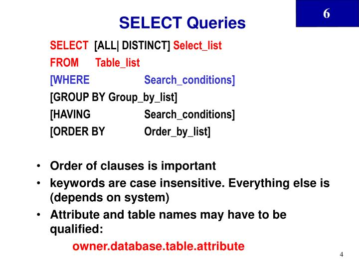 SELECT Queries