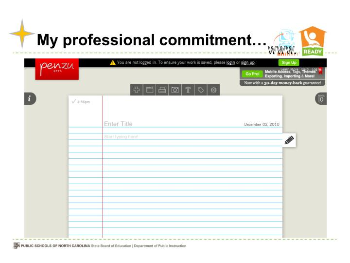My professional commitment…