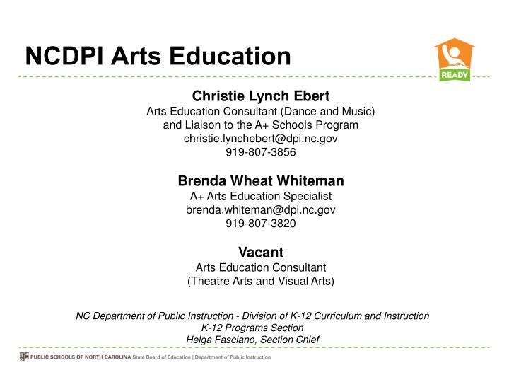 NCDPI Arts Education