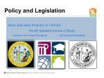 policy and legislation