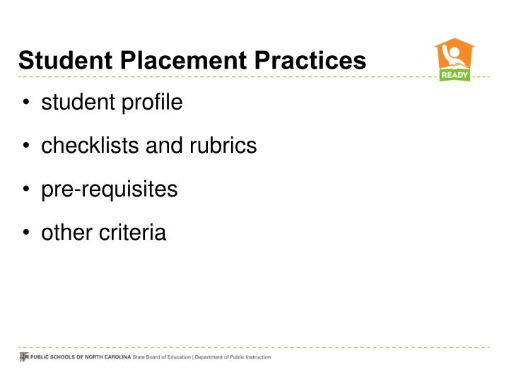 Student Placement Practices