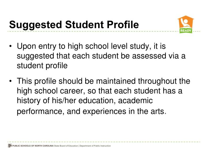 Suggested Student Profile