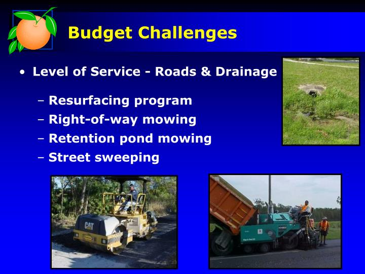 Level of Service - Roads & Drainage
