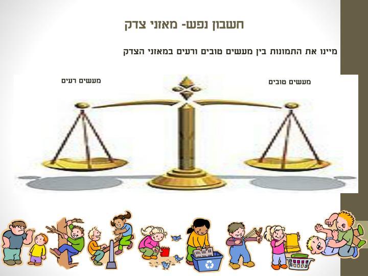 חשבון נפש- מאזני צדק