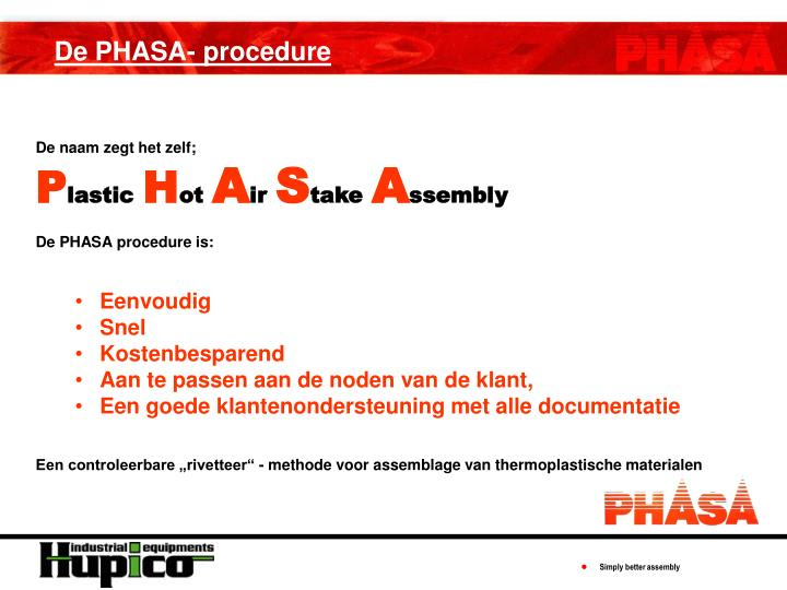 De PHASA- procedure