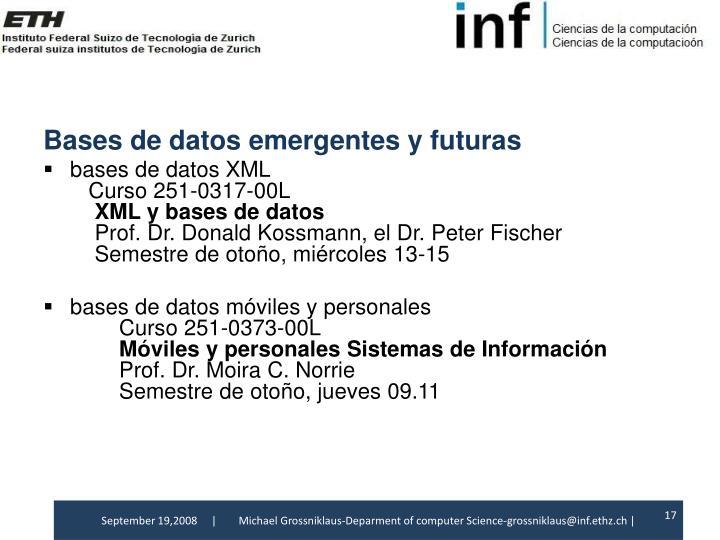 Bases de datosemergentes y futuras