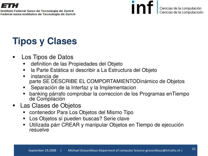 TiposyClases