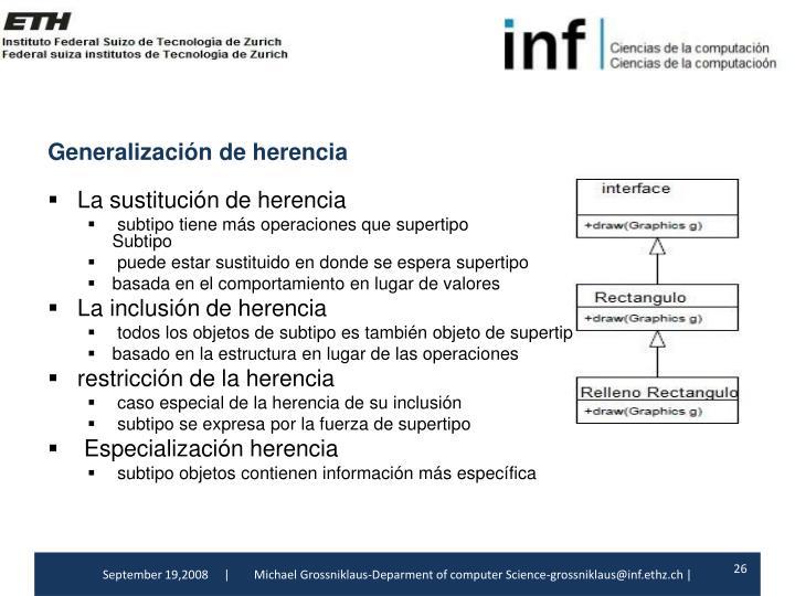 Generalización de herencia