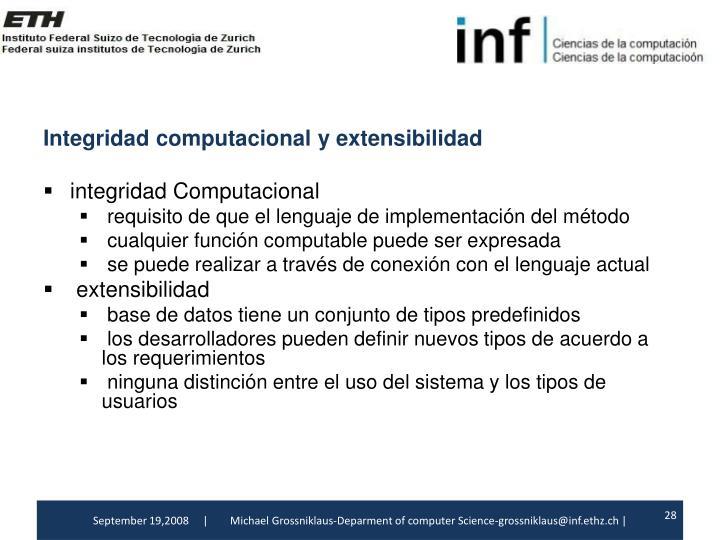 Integridadcomputacionaly extensibilidad