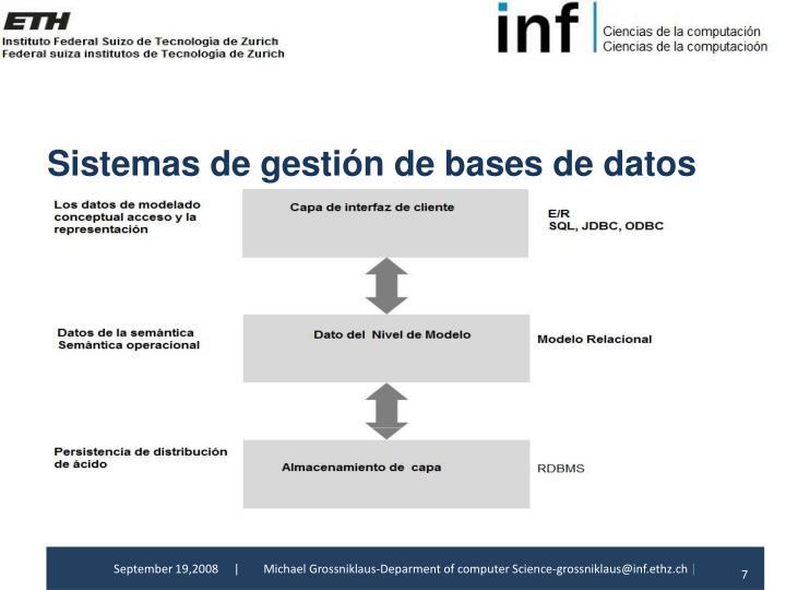 Sistemas de gestiónde bases de
