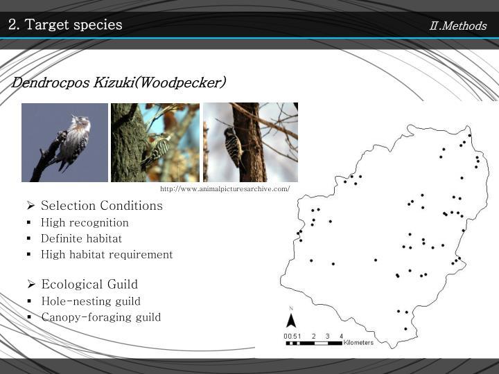 2. Target species