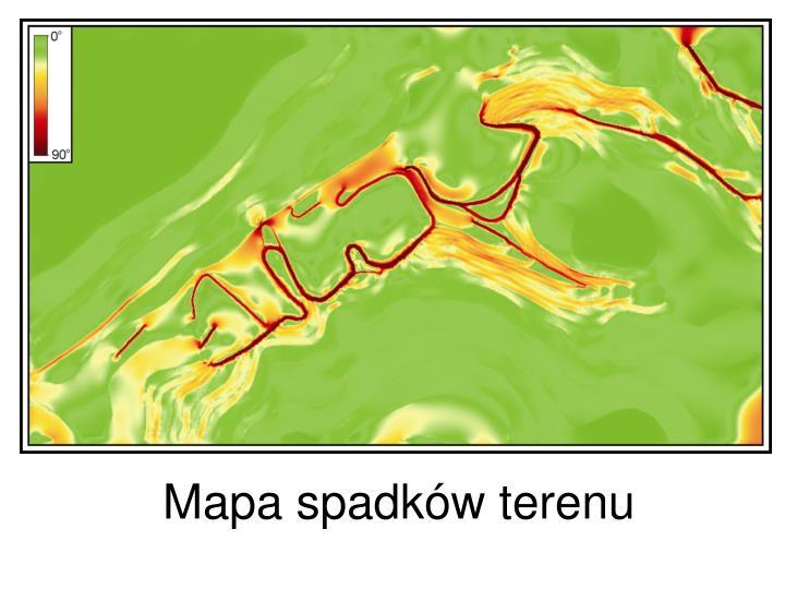 Mapa spadków terenu