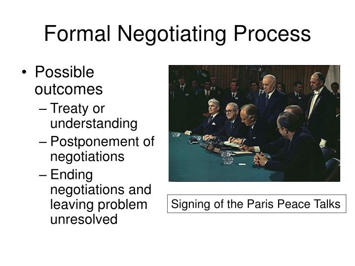 the process of diplomatic negotiations Negotiations in international relations 1 in the process of evolving diplomacy diplomatic negotiation is now the most important area of foreign policy operated by peaceful means.