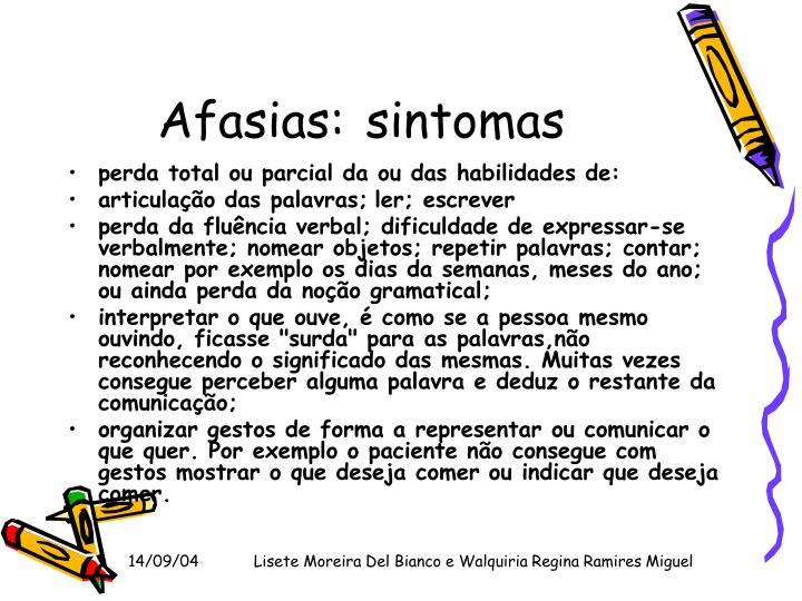 Afasias: