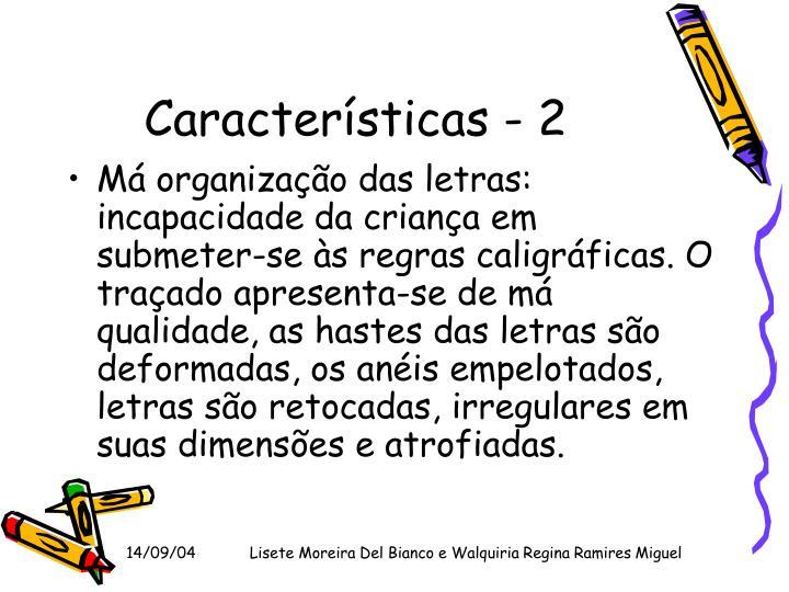 Características - 2