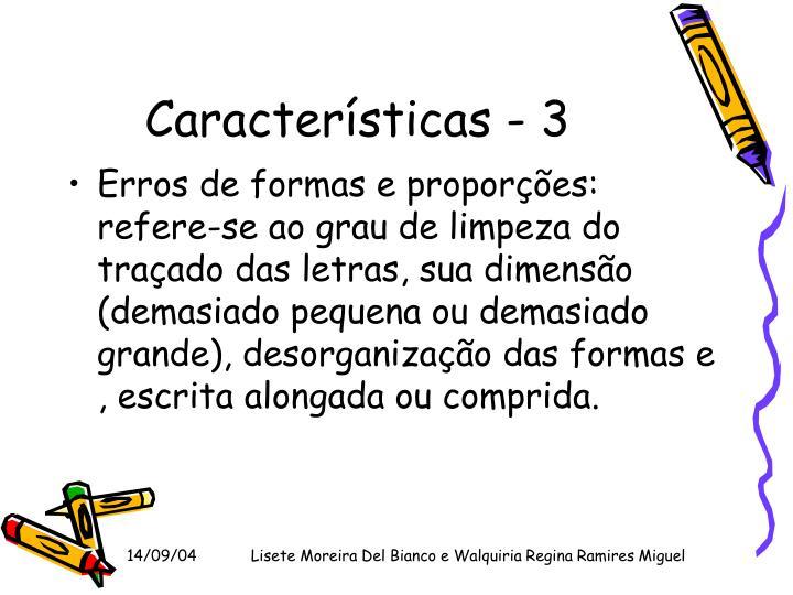 Características - 3