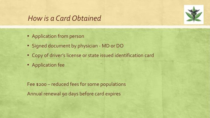 How is a Card Obtained