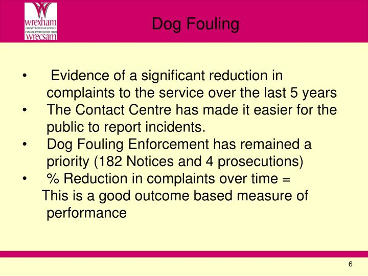 Evidence of a significant reduction in complaints to the service over the last 5 years