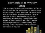 elements of a mystery1