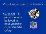 vocabulary used in a mystery4