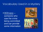 vocabulary used in a mystery6