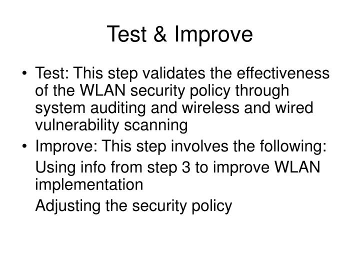 Test & Improve
