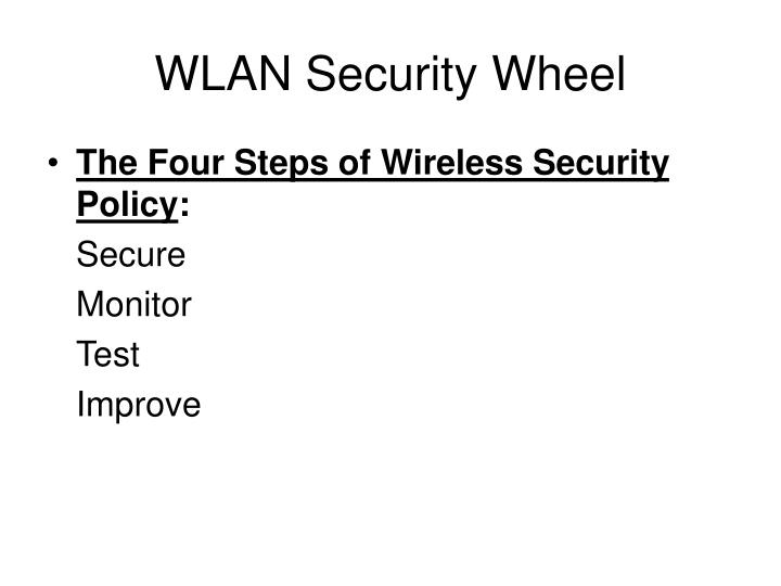 Wlan security wheel