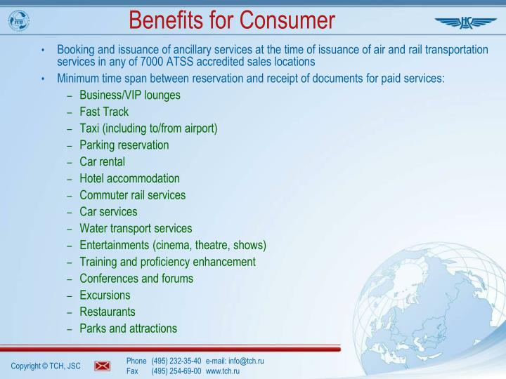 Benefits for Consumer