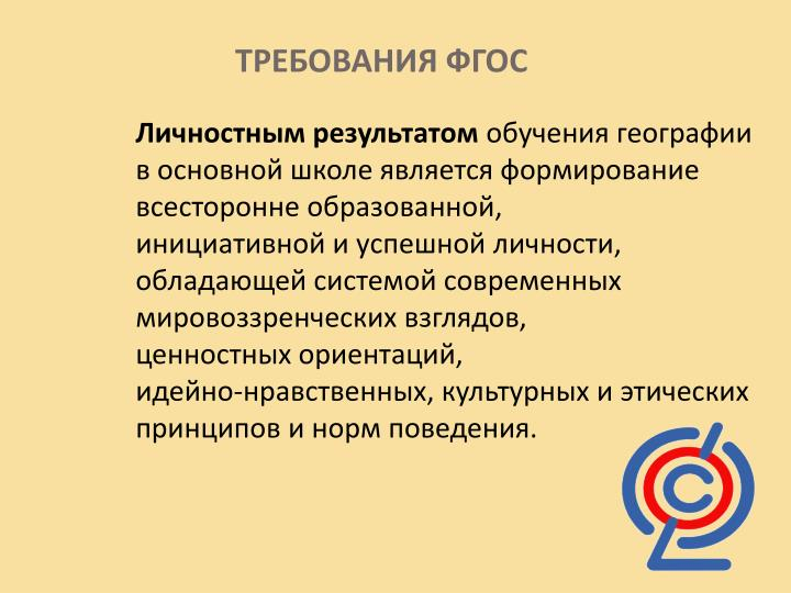 ТРЕБОВАНИЯ ФГОС