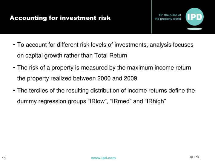 Accounting for investment risk