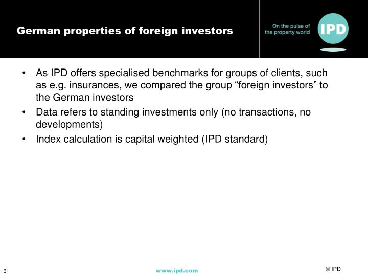 German properties of foreign investors