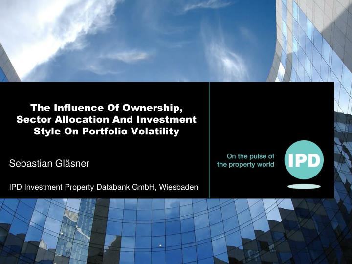 The influence of ownership sector allocation and investment style on portfolio volatility