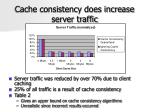 cache consistency does increase server traffic