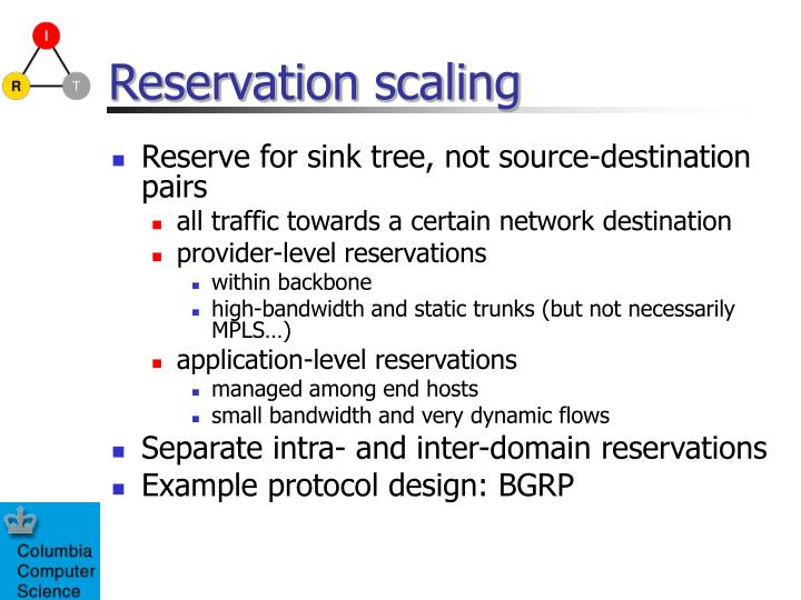 Reservation scaling