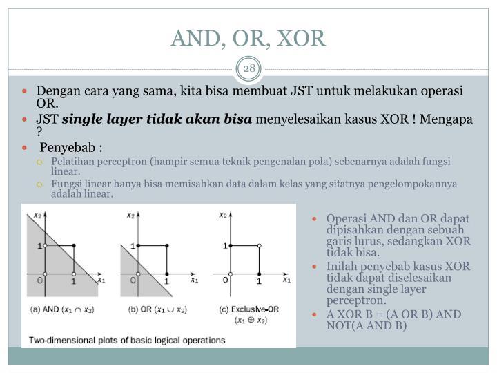 AND, OR, XOR