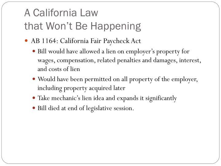 A California Law