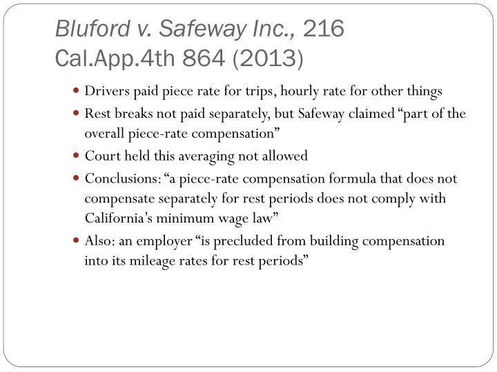 Bluford v. Safeway Inc.,