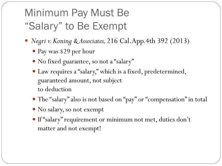Minimum Pay Must Be